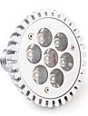 7W E26/E27 Spot LED PAR30 7 LED Haute Puissance 680 lm Blanc Chaud AC 85-265 V