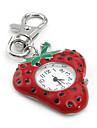 femmes à la mode de la fraise PC de quartz trousseau veille (rouge)