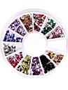 240 nail art Strass pointe joyau mélange de roue