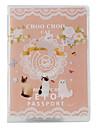 Choo Choo Cat Style Travel Credentials Bag (Pink)