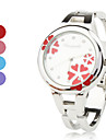 Women's Quartz Analog Flower Pattern Dial Silver Alloy Band Bracelet Watch (Assorted Colors) Cool Watches Unique Watches