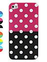 круглый шаблон точки защитный чехол для iphone 4 (разных цветов)