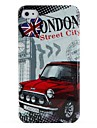 Protective Retro Style Polycarbonate Case for iPhone 4 and 4S (London Car)