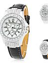 couro das mulheres fashional aanlog relógio de pulso de quartzo (cores sortidas)