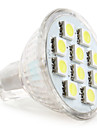 2W GU4(MR11) Faretti LED MR11 10 SMD 5050 120 lm Bianco DC 12 V