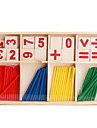 puinen aritmeettinen tikkuja rekvisiittaa asetettu lapsille