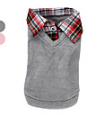 Dog Sweater / Shirt / T-Shirt / Shirt Pink / Gray Dog Clothes Winter / Spring/Fall Plaid/Check Fashion