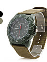 Unisex Outdoor Sports Style Fabric Analog Quartz Wrist Watch with Calendar (Assorted Colors)