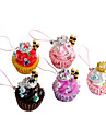 Cute Crown Ice Cream Cake Shaped Keychain (Random Colors)
