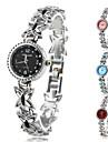 여성용 콰츠 아날로그 나비무늬 합금 밴드 팔찌 시계 (다양한 색상)