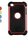 double en plastique amovible et étui en silicone pour 4 ipod touch (couleurs assorties)