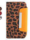 Леопардовый чехол-бумажник с подставкой для iPhone 4 и 4S (разные цвета)