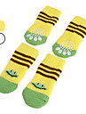 Socks & Boots for Dogs White / Yellow Spring/Fall Cotton