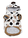 Big Spot Style Warm Cotton Hooded Coat for Dogs (XS-XL, White)