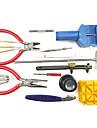 18 peças de luxo relógio de pulso de reparo ferramenta CASE conjunto kit