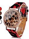 Women's Leopard Print PU Analog Quartz Wrist Watch (Assorted Colors)