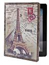 retro Eiffelturm Muster pu Ledertasche mit Staender fuer iPad 2/3/4