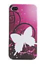 Cas motif papillon souple pour iPhone 4 et 4S