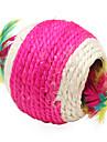 sisal hueco doble bola de estilo juguetes por aranazo de gato (color al azar)
