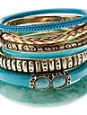 Muti-кольцо красочный браслет сплава зерна (Семь Браслеты Set)