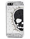 아이폰 5/5S를위한 다이아몬드 표면에 단단한 케이스 해골 머리 패턴