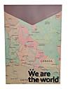 Vintage World Map Design A4 File Packet