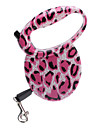 Dog Leash Adjustable/Retractable / Automatic Pink Plastic