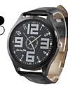 Mannen Eenvoudig Ontwerp PU Analoog Quartz Wrist Watch (verschillende kleuren)