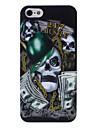 dollar cas dur de modèle de tête de crâne pour l'iphone 5/5s