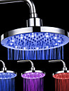 8-inch 12-LED Tete Ronde de douche plafond (couleurs assorties)