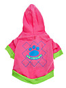 Dog Hoodie Pink Dog Clothes Spring/Fall Cartoon