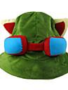 모자/ 캡 에서 영감을 받다 LOL Teemo 아니메/비디오게임 코스프레 악세서리 캡(35) / 모자 녹색 폴라 양털 남성