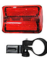 3-LED Bicycle Safety Tail Light (Rouge)