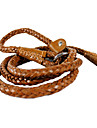 Genuine Leather Hand-braided Leash for Dogs Collar (Assorted Color,165cm/65inch)