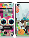 Cartoon Style Front and Back Screen Protector Film for iPhone 4/4S