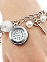 Women's Watch Alloy Bracelet With Imitation Pearls and Key Pendent Cool Watches Unique Watches