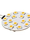 3W G4 LED Bi-pin 조명 15 SMD 5050 210 lm 따뜻한 화이트 DC 12 V