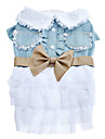 Dog Dress Blue Dog Clothes Summer Bowknot Cosplay
