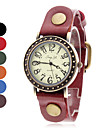 Women's Casual Style Leather Analog Quartz Wrist Watch (Assorted Colors) Cool Watches Unique Watches
