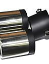 Универсальная из нержавеющей стали глушитель выхлопной трубы автомобиля (63mm-Внутренний диаметр) LMC-M-041