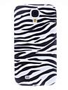 Zebra Pattern Soft Case para Samsung i9500 Galaxy S4