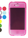 Solid Color TPU Full Body para iPhone 4/4S (cores sortidas)