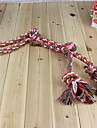 Durable Rough Rope with Four Knots Chewing Toy for Dogs (Random Color)