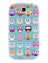 For Samsung Galaxy Case Frosted / Pattern Case Back Cover Case Owl PC Samsung S3