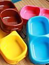 고양이 / 강아지 그릇&물병 애완동물 그릇 & 수유 방수 / 휴대용 블루 / 브라운 / 핑크 / 옐로우 플라스틱