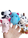 5PCS Forest Animal Plush Finger Puppets Kids Talk Prop