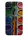 iPhone 4/4S를위한 페인트 박스 패턴 하드 케이스
