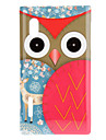 Staring Cartoon Owl with Brown Face and Deer Pattern Wings Hard Case for LG E610 Optimus L5