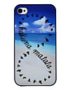 Wild Geese Coloured desenho Padrao Black Frame PC Hard Case para iPhone 4/4S