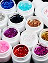 12st glitter uv kleur gel & sneldrogende reiniger polish